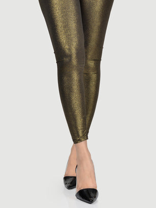 Shimmer Tights-Copper