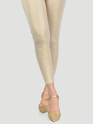 Shimmer Tights-Light Gold