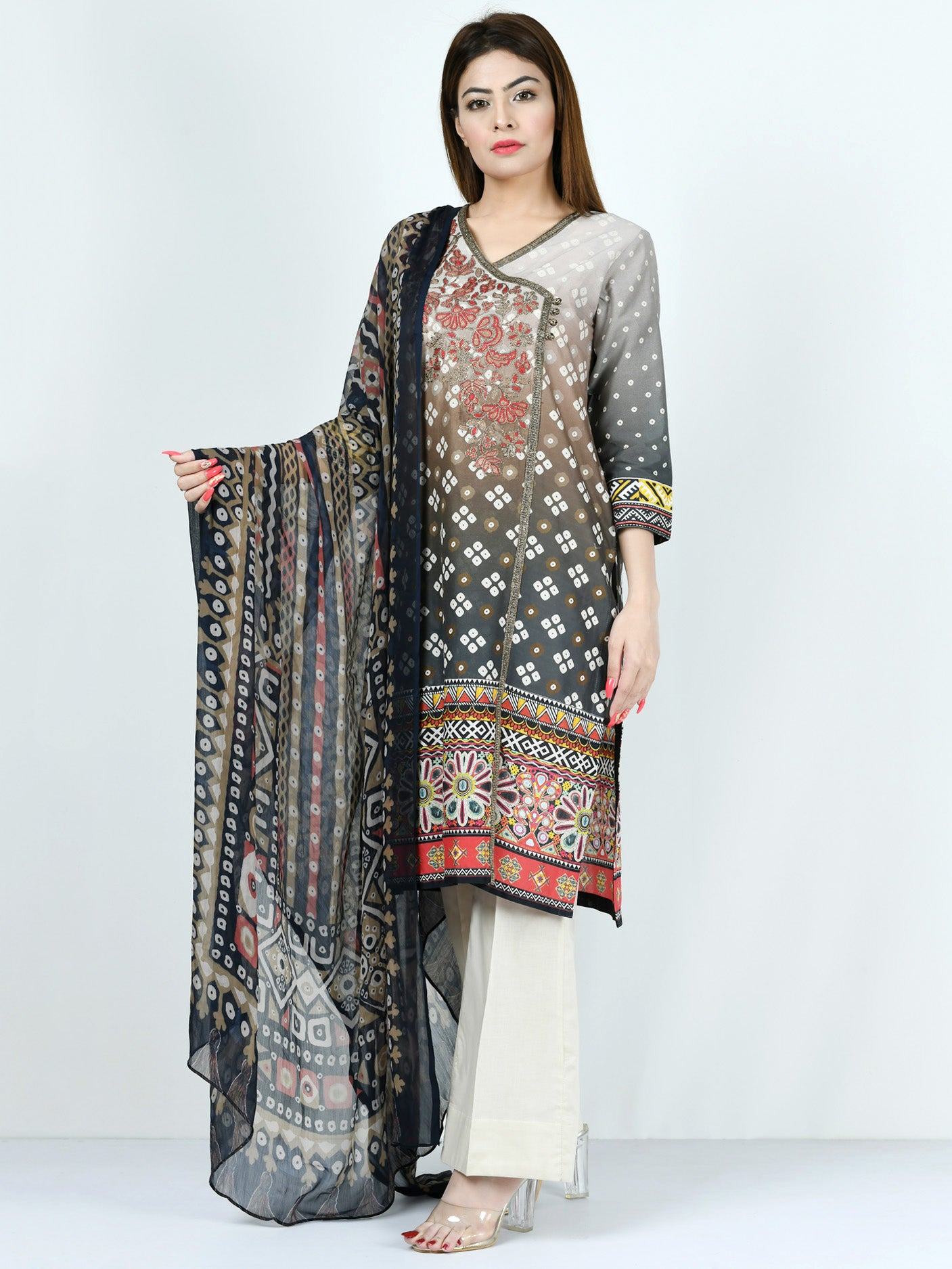Limelight Online Embroidered Lawn Suit P1624-SLL-BGE