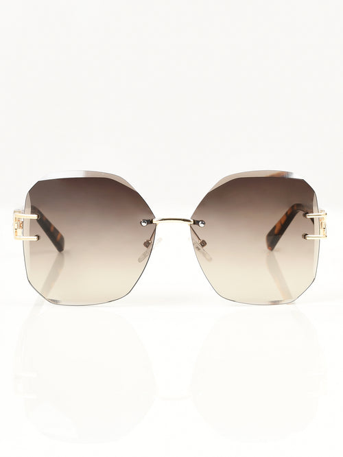 Rimless Patterned Sunglasses