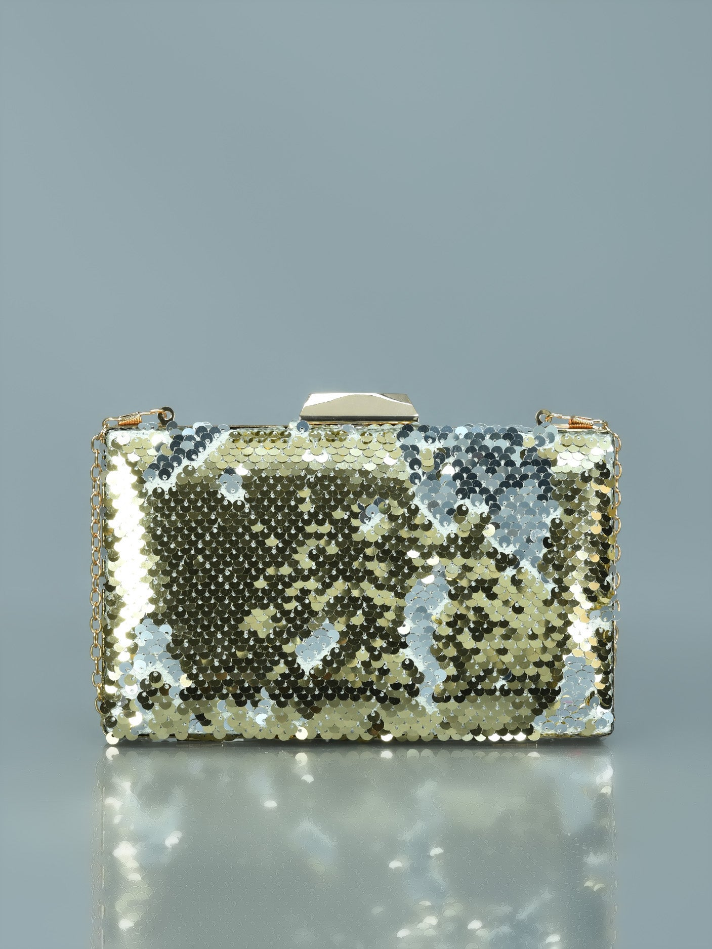 Two Toned Sequin Clutch