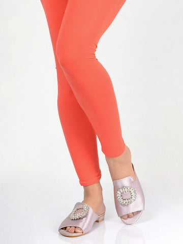 Basic Tights-Peach