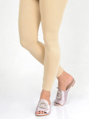 Basic Tights-Cream