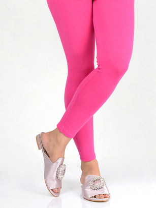 Basic Tights-Deep Pink