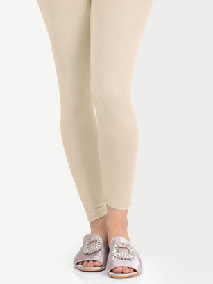 Basic Tights-Beige