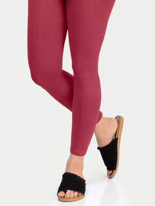 Basic Tights-Maroon