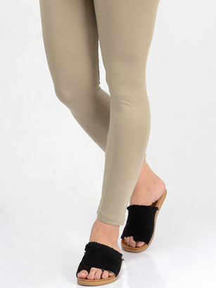 Basic Tights-Olive
