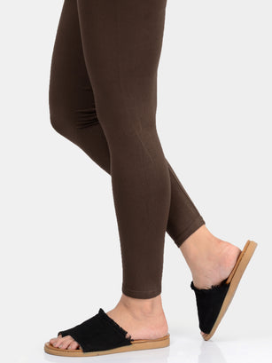 Basic Tights-Dark Brown