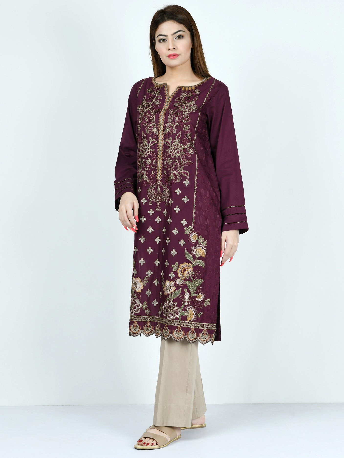 Limelight Online Embroidered Lawn Suit P1698-SLL-GRY