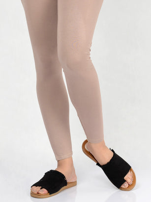 Basic Tights-Deep Beige