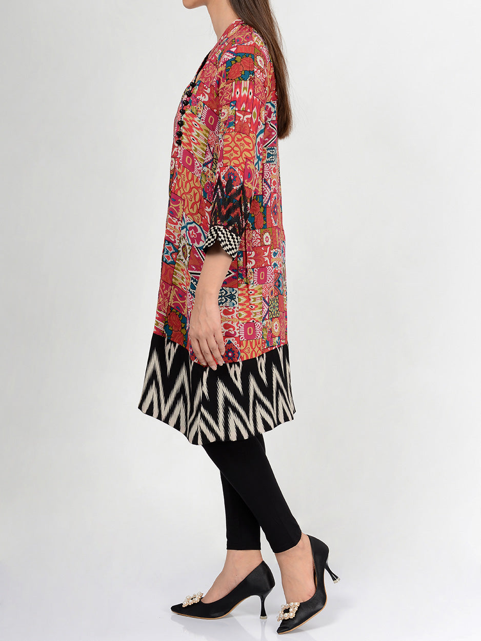 Pret Embroidered Lawn Shirt P0059 Limelight