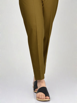 Straight Trouser-Olive Green