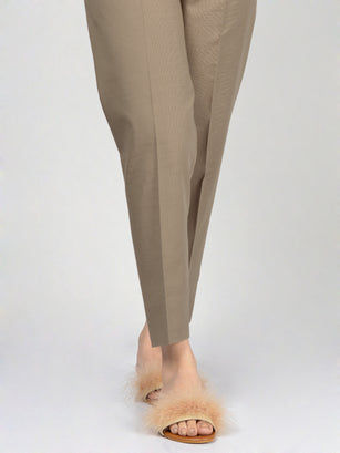 Straight Trouser-Dark Beige