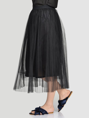 Net Skirt-Black