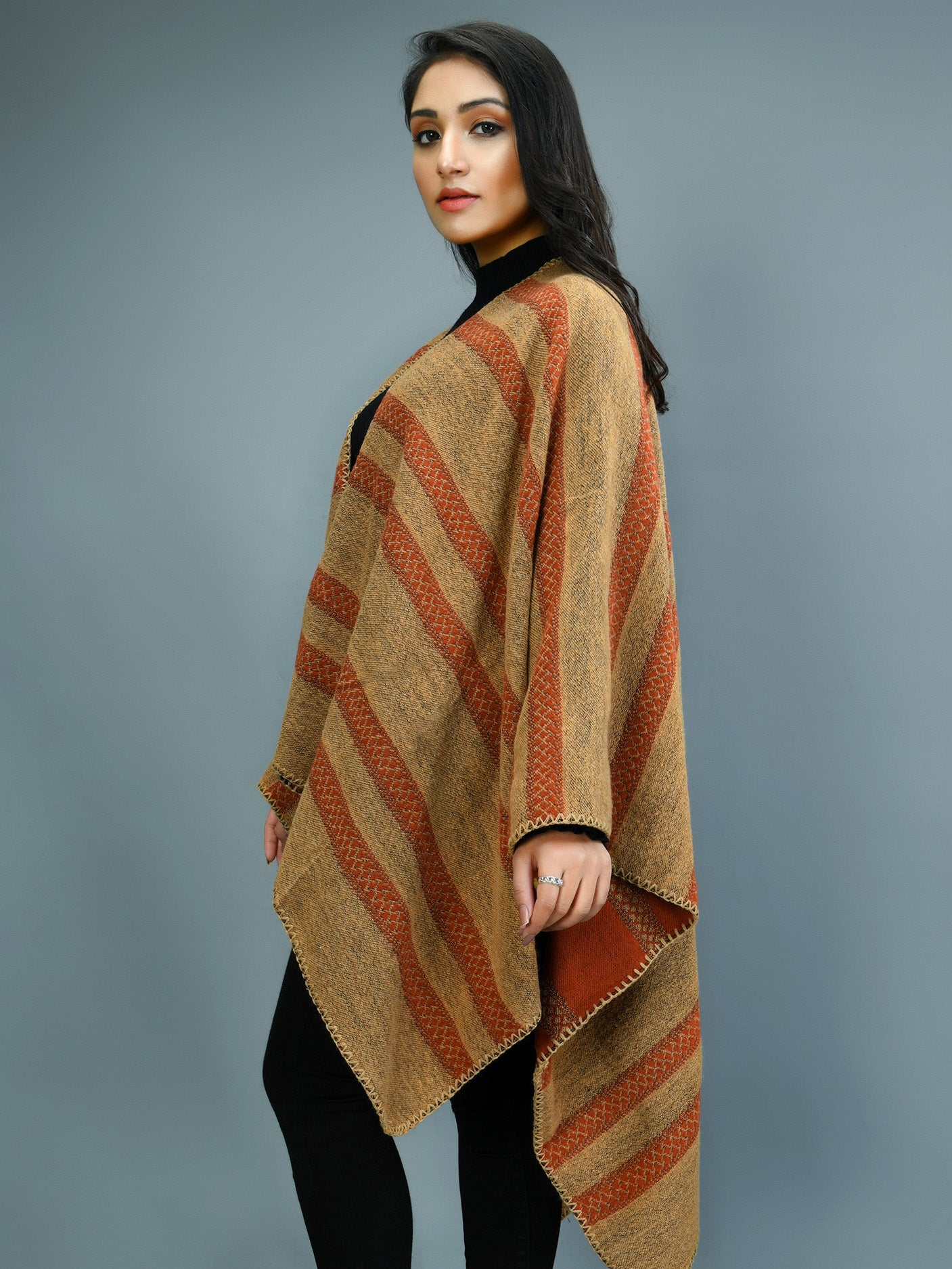 Patterned Cape Shawl