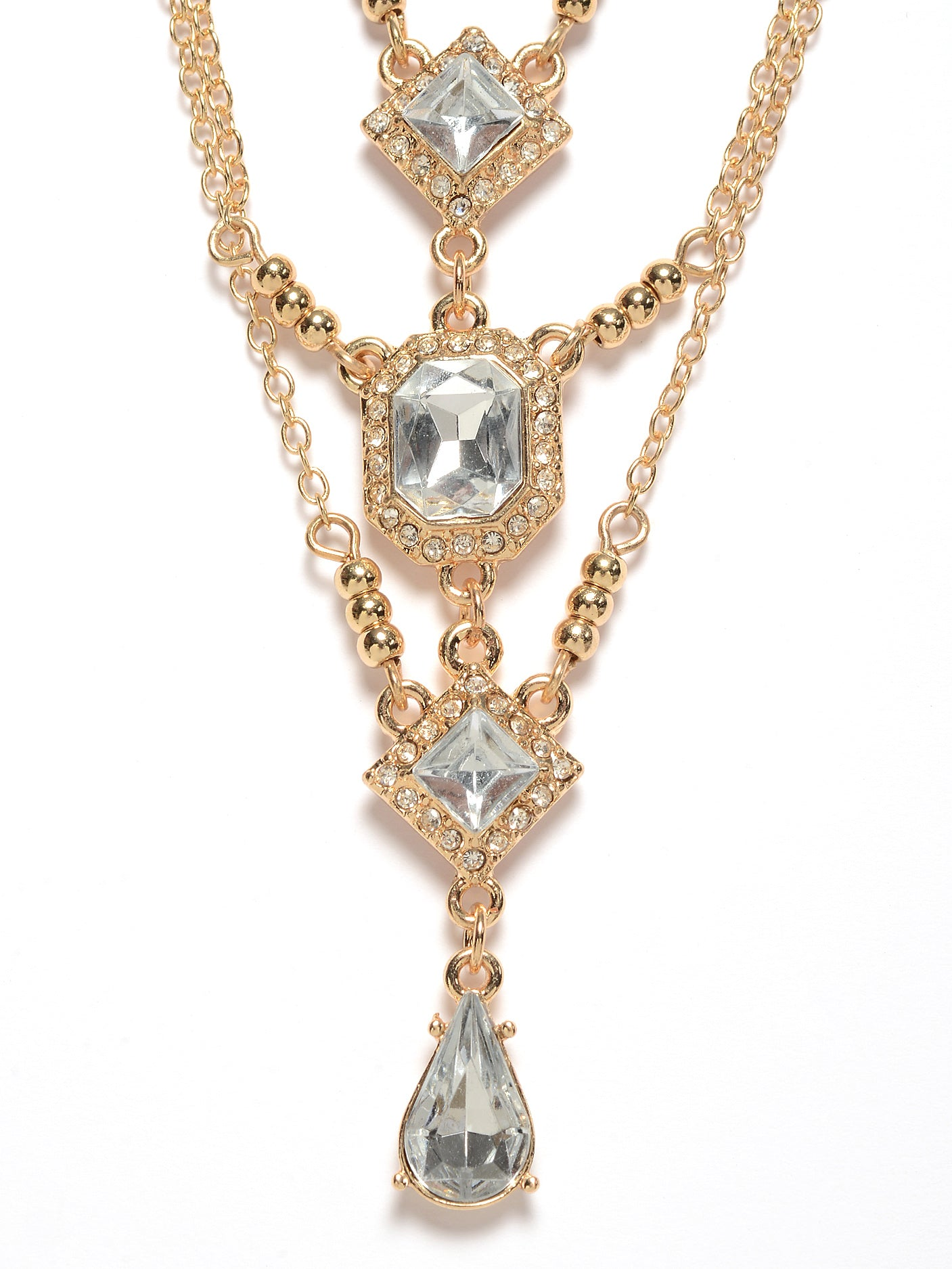 Layered Diamante Necklace