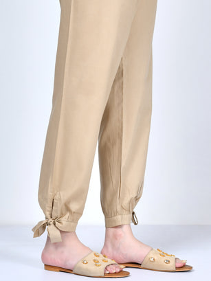 Knotted Crepe Trouser