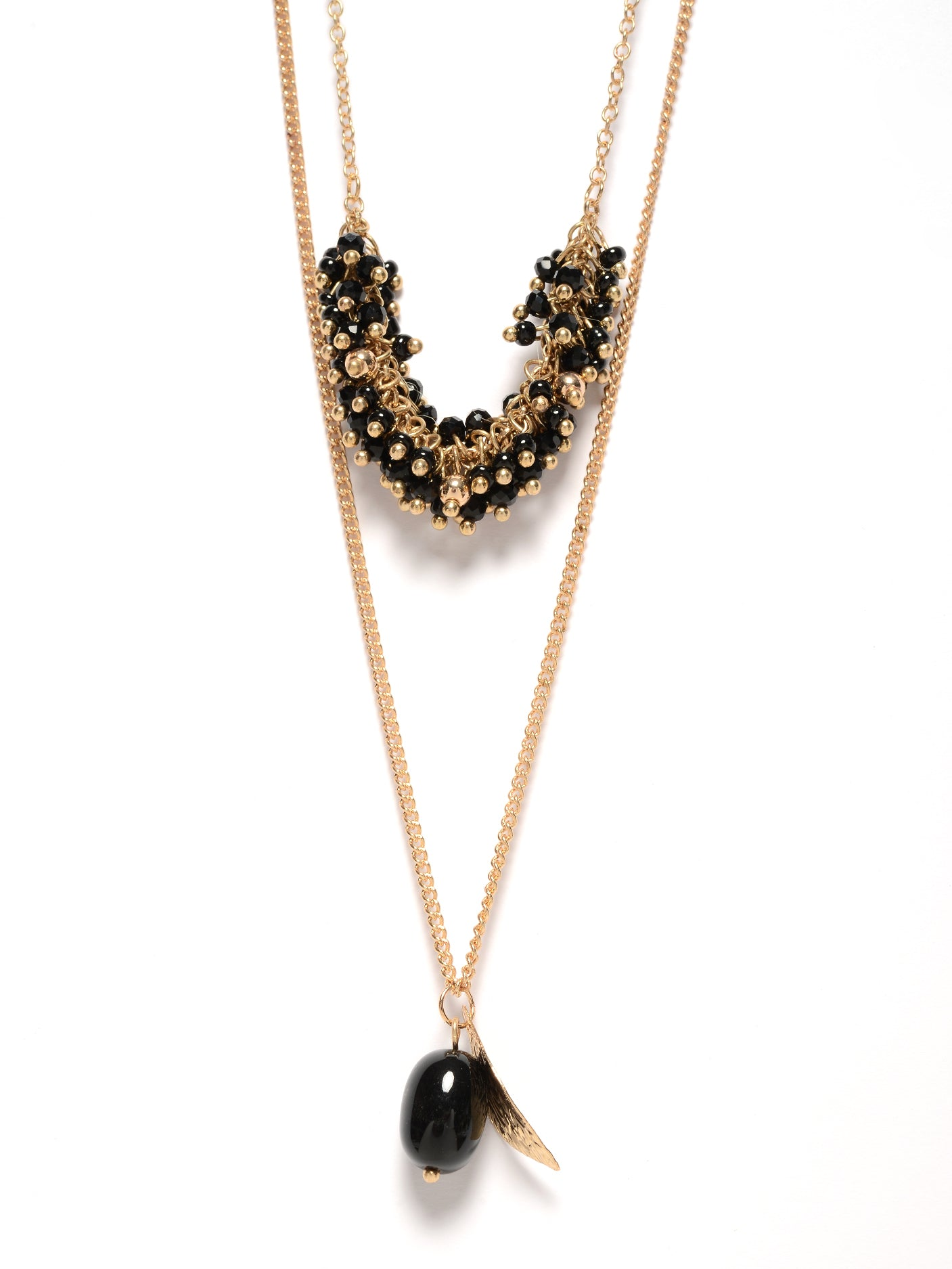 Bunched Bead Necklace
