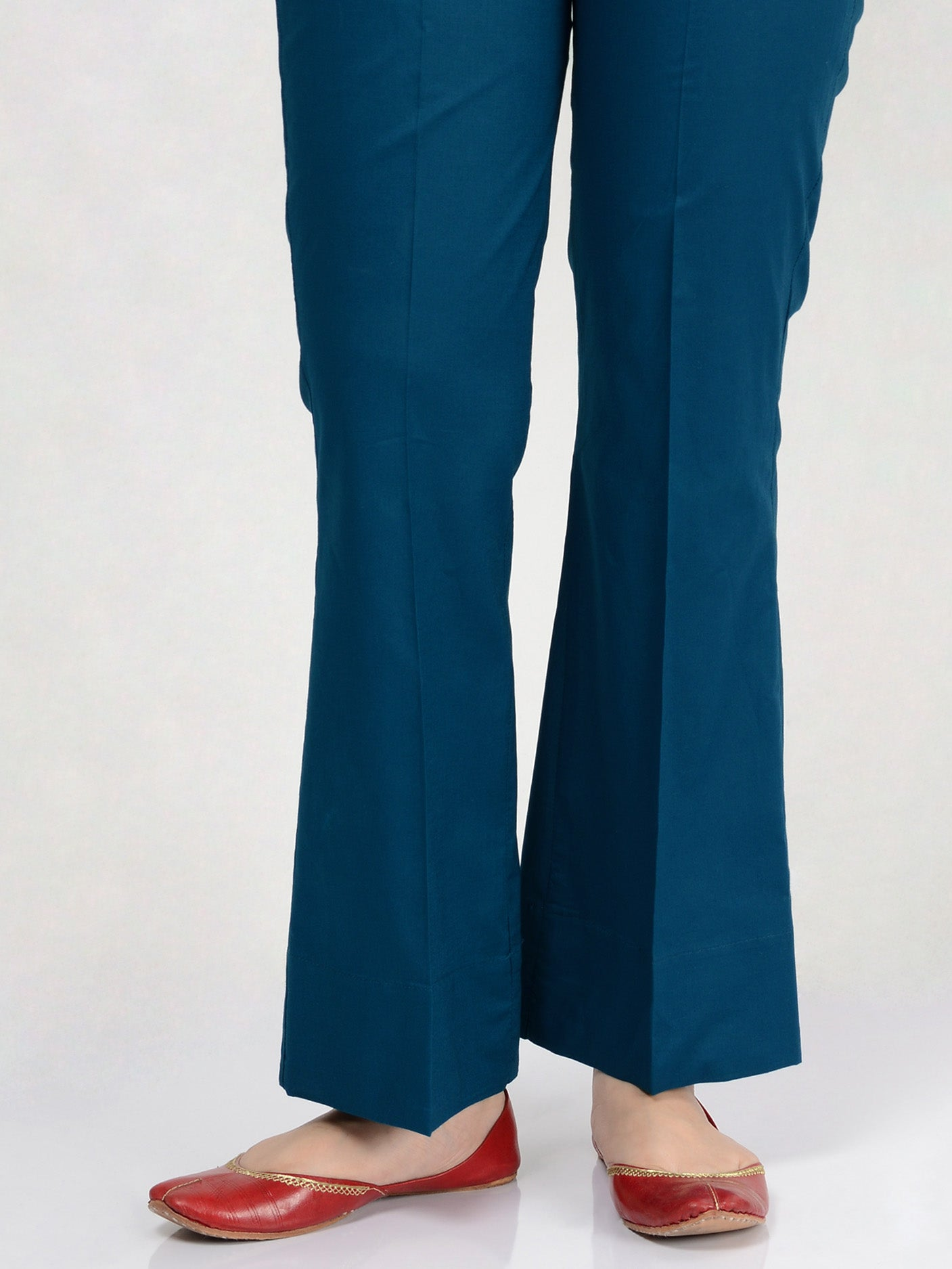 Bootcut Pants-Dark Ferozi