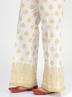 Cambric Printed Bootcut Pants