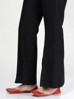 Embroidered Bootcut Pants