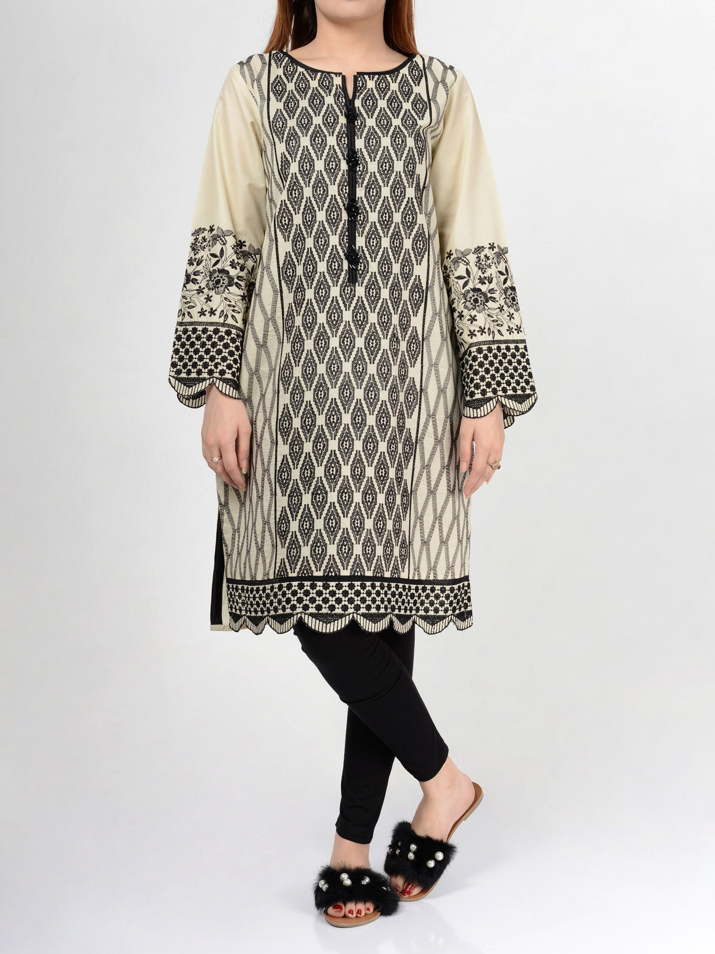 Pret Embroidered Lawn Shirt F0504 Online