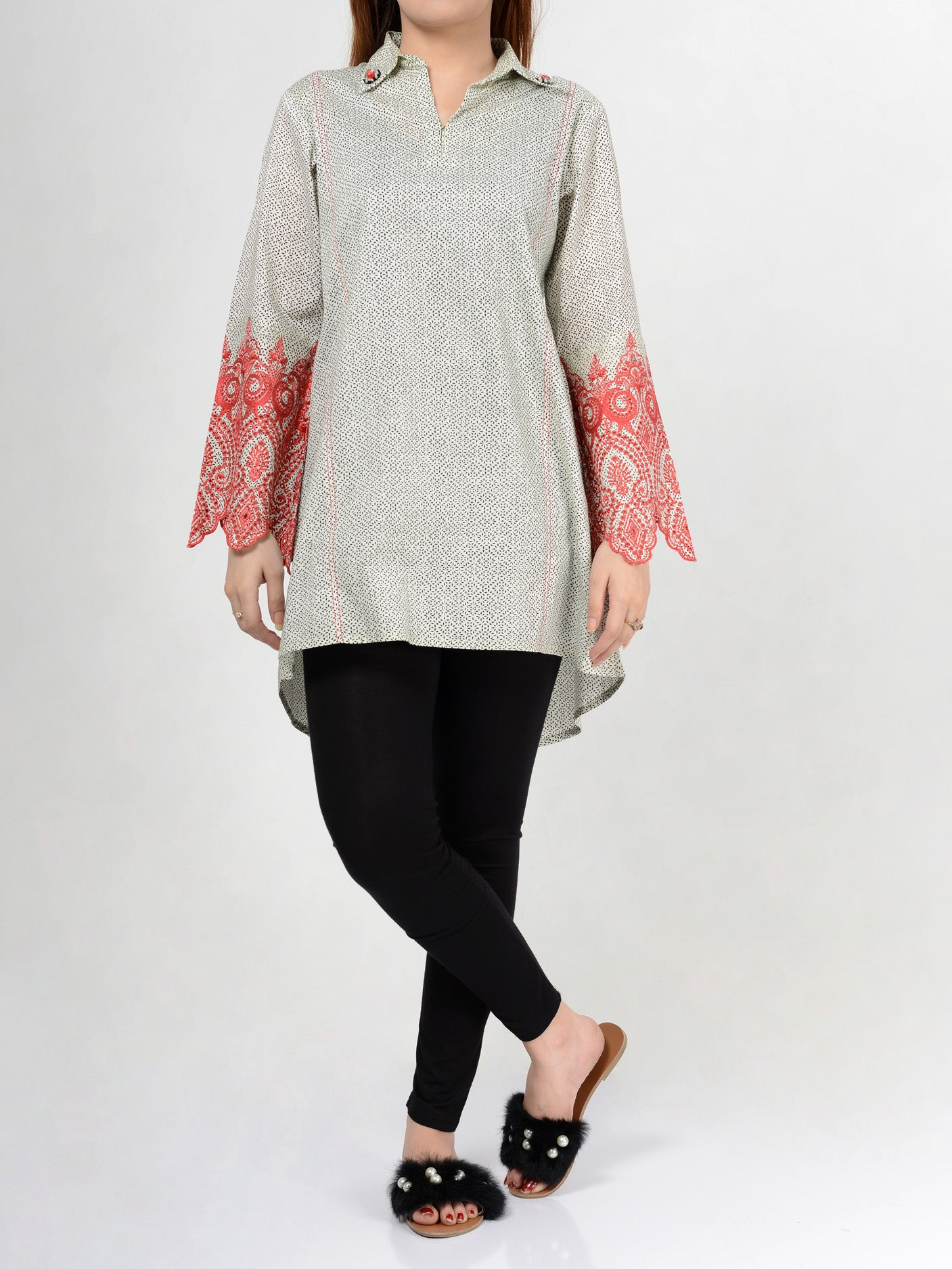 Pret Embroidered Lawn Shirt F1436 Online