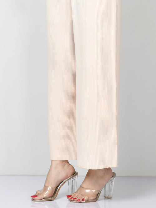 Crinkled Grip Pants - Peach