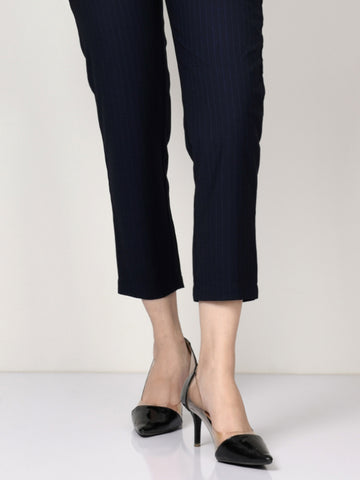 Striped Suit Pants - Blue