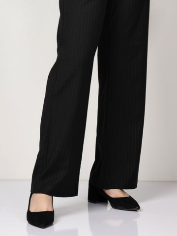 Striped Suit Pants - Black