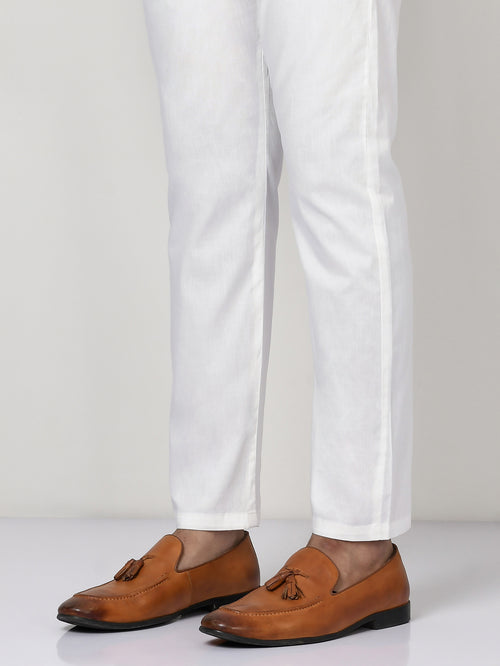 Straight Trouser - White