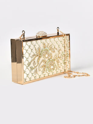 Embellished Hard Clutch