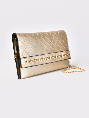Chained Textured Clutch