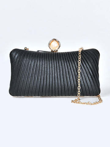Pearl Pleated  Clutch