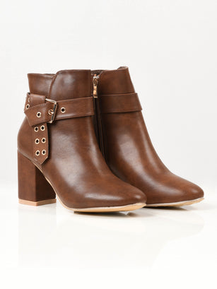 Buckled Boots - Camel