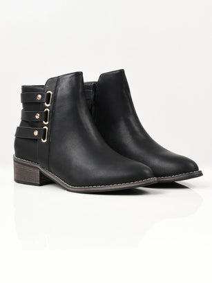 Strapped Boots - Black