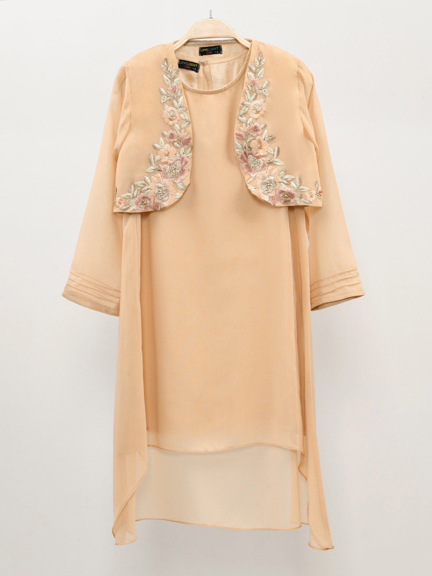 Limelight Online Ruffle Sleeved Coat - Yellow COT89-SML-YLW