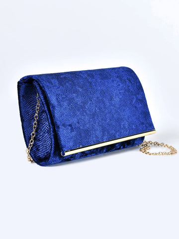 Rectangular Velvet Clutch