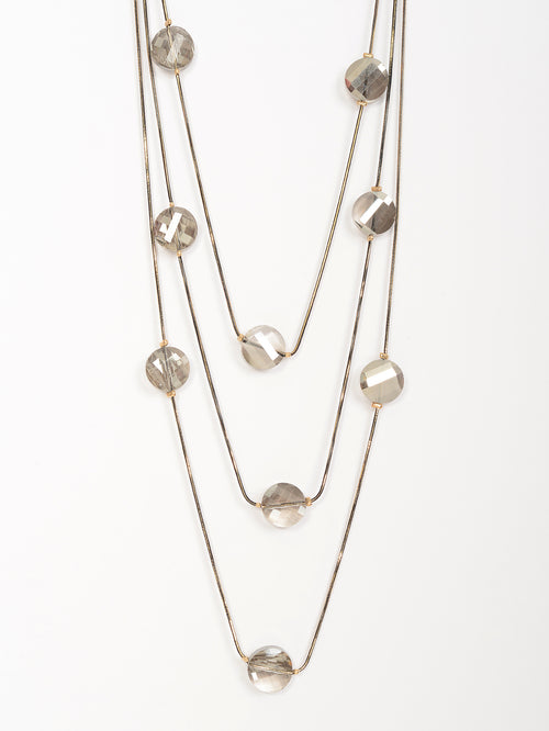 Layered Crystal Necklace
