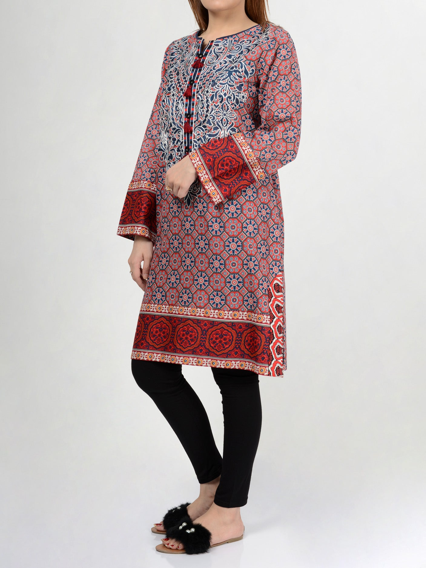 Pret Embroidered Lawn Shirt P0114 Limelight