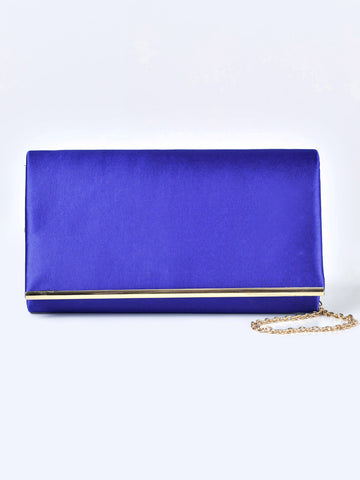 Rectangular Satin Clutch