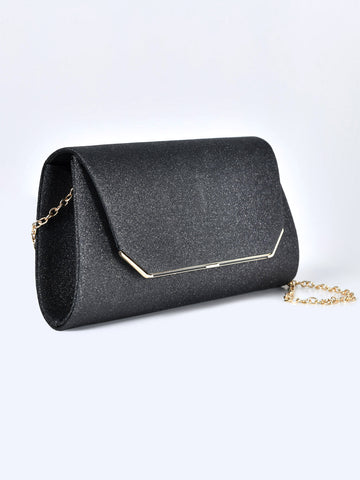 Trapeze Shimmer Clutch