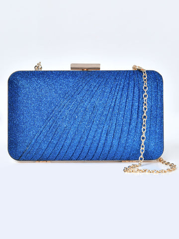 Pleated Shimmer Clutch