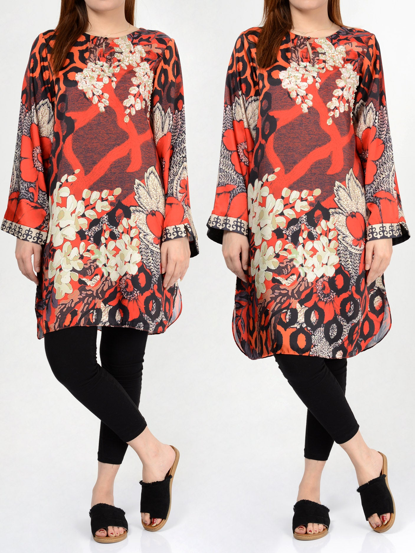 Buy Limelight Embellished Silk Shirt F0377 Online in Pakistan | Limelight.pk