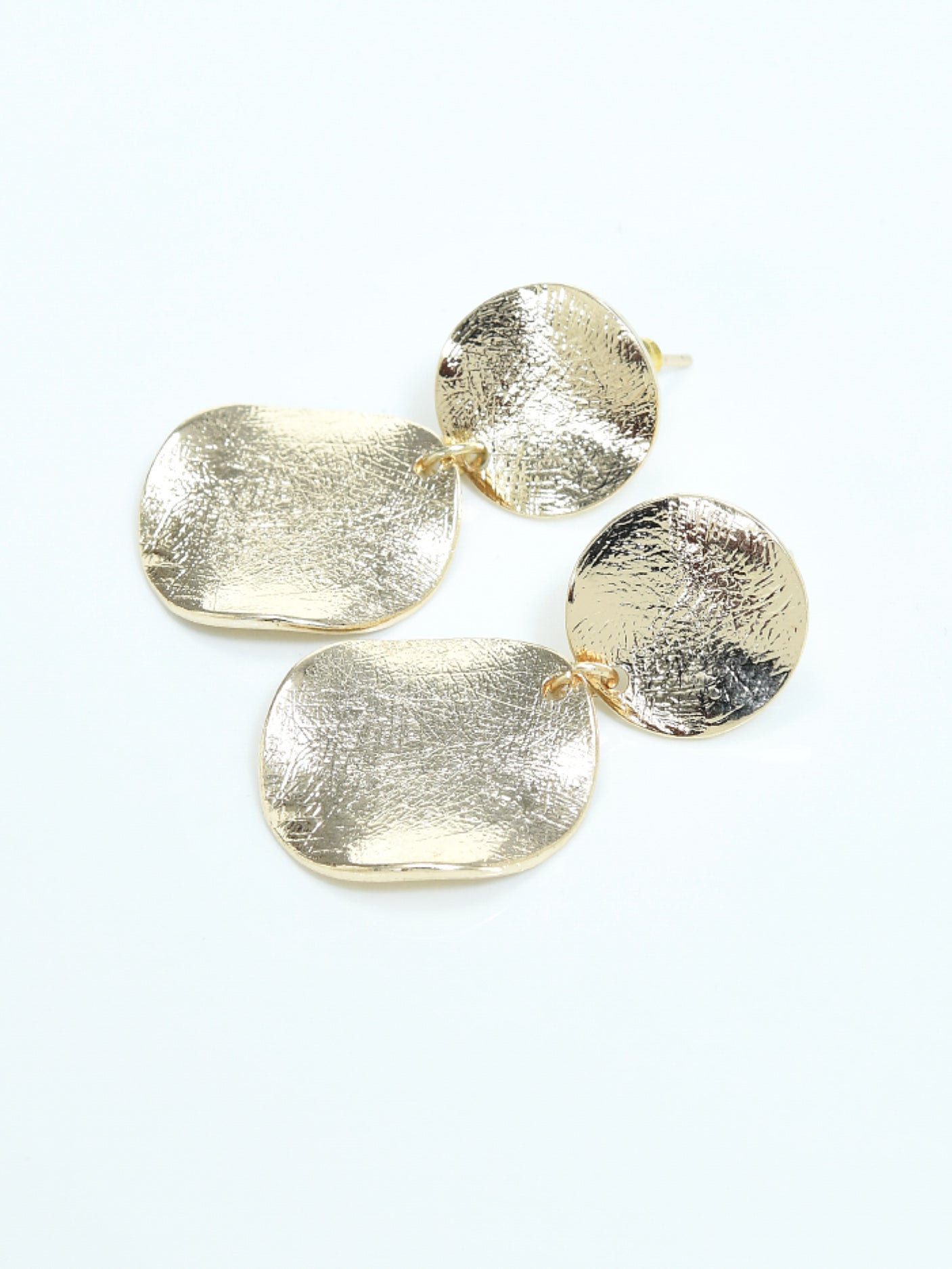 Textured Metallic Earrings