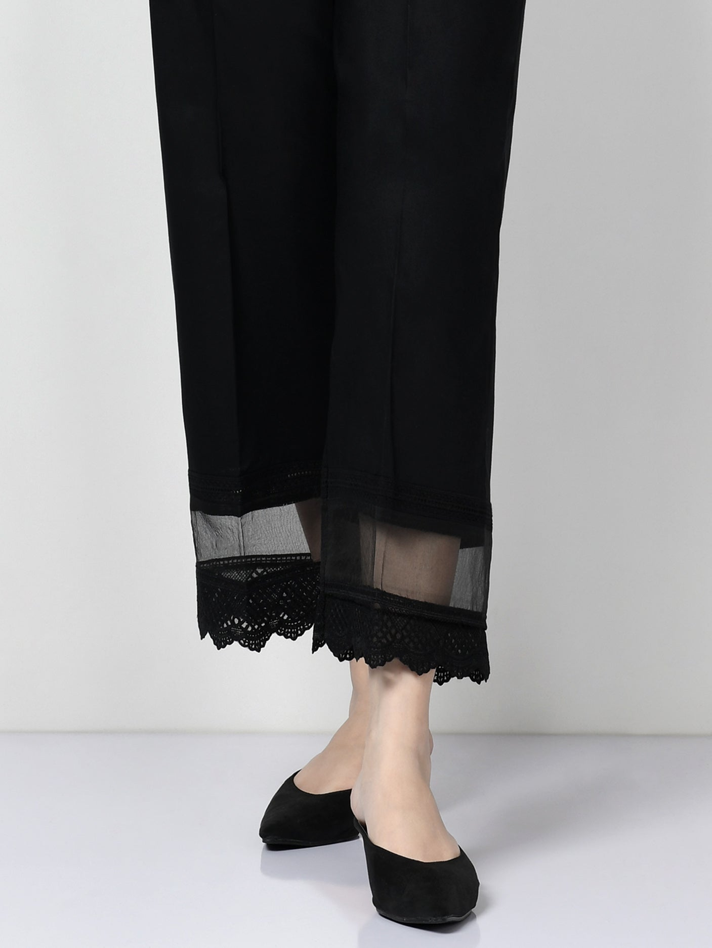 Laced Winter Cotton Pants
