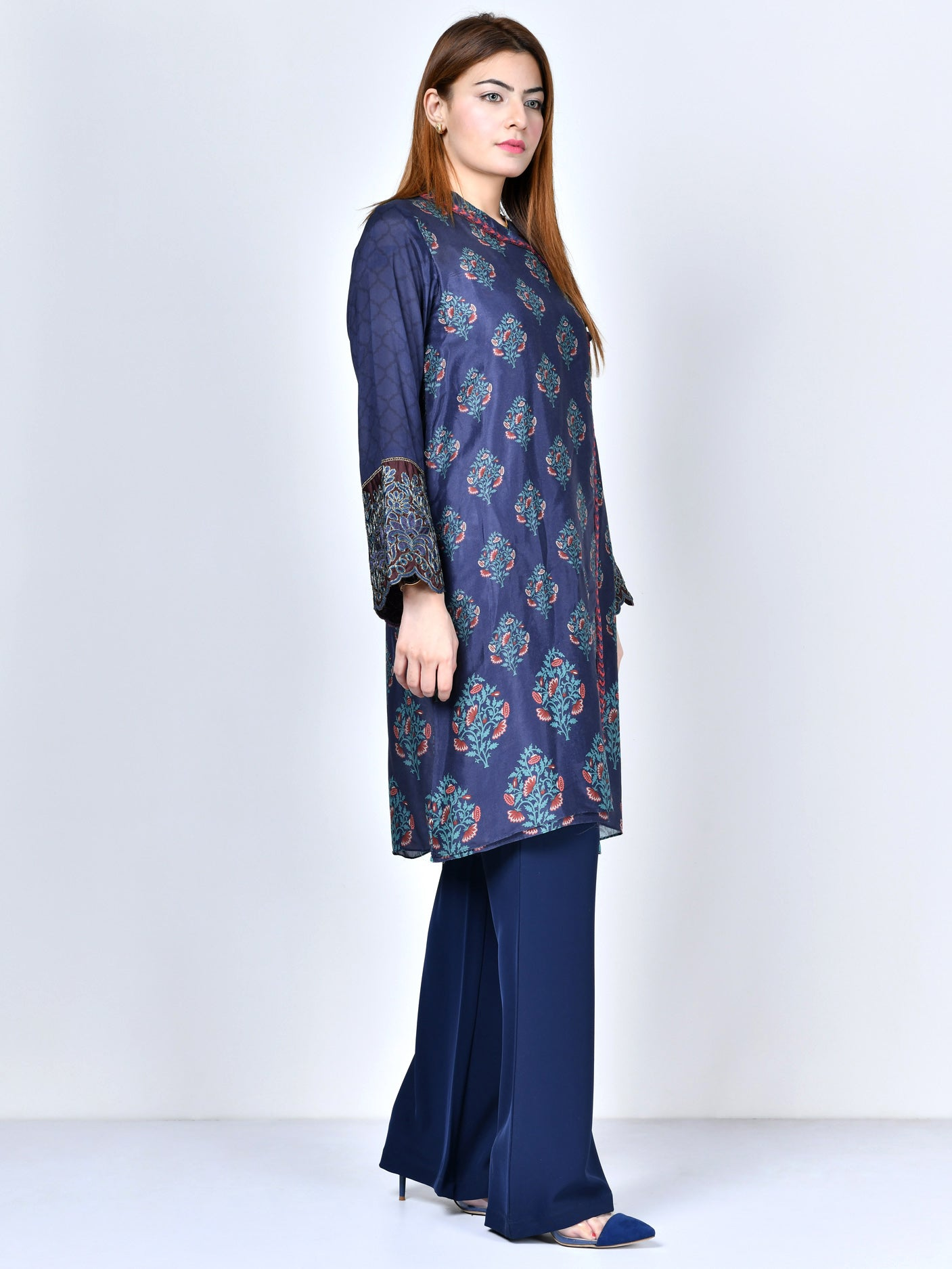 Embroidered Silk Shirt