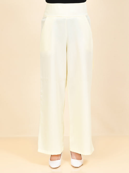 Wide Grip Pants - Cream