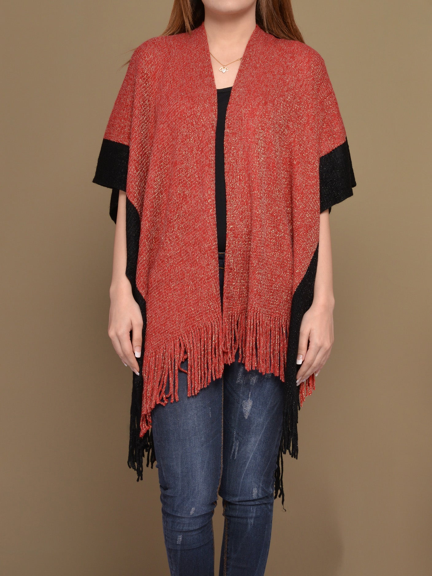 Two-Toned Cape Shawl