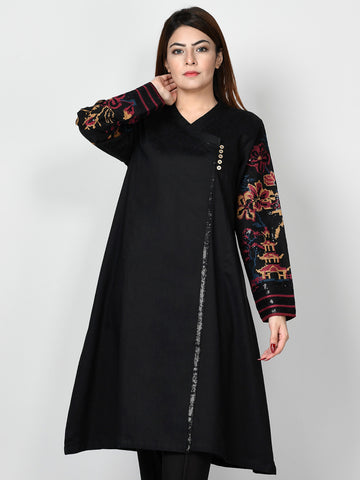 Embroidered Self Jacquard Shirt